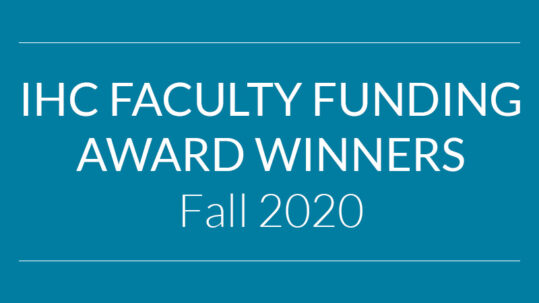 Faculty Funding Award Winners