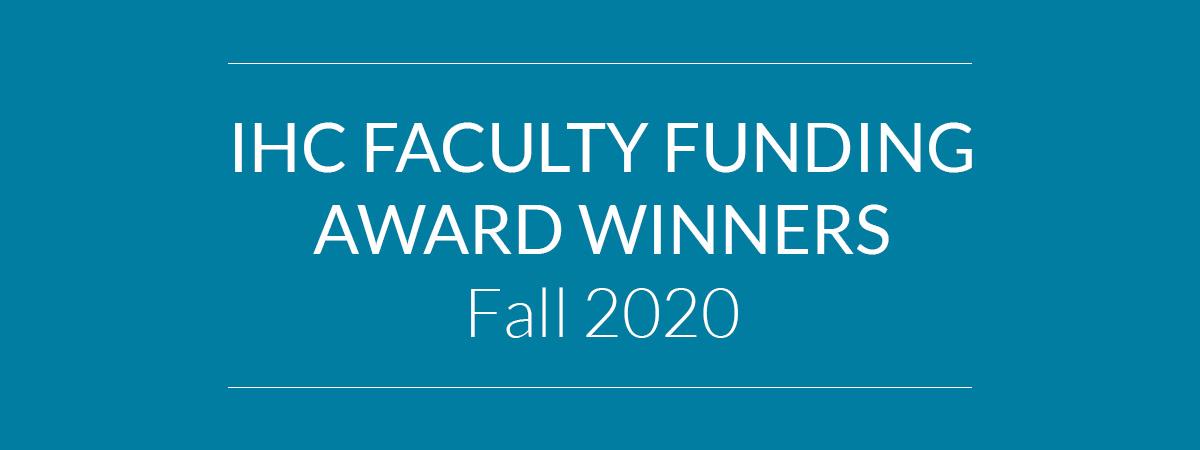 Faculty Funding Award Winners